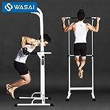 WASAI(ワサイ) ぶら下がり健康器 懸垂器具 チンニングスタンド 懸垂マシン 30W(白)