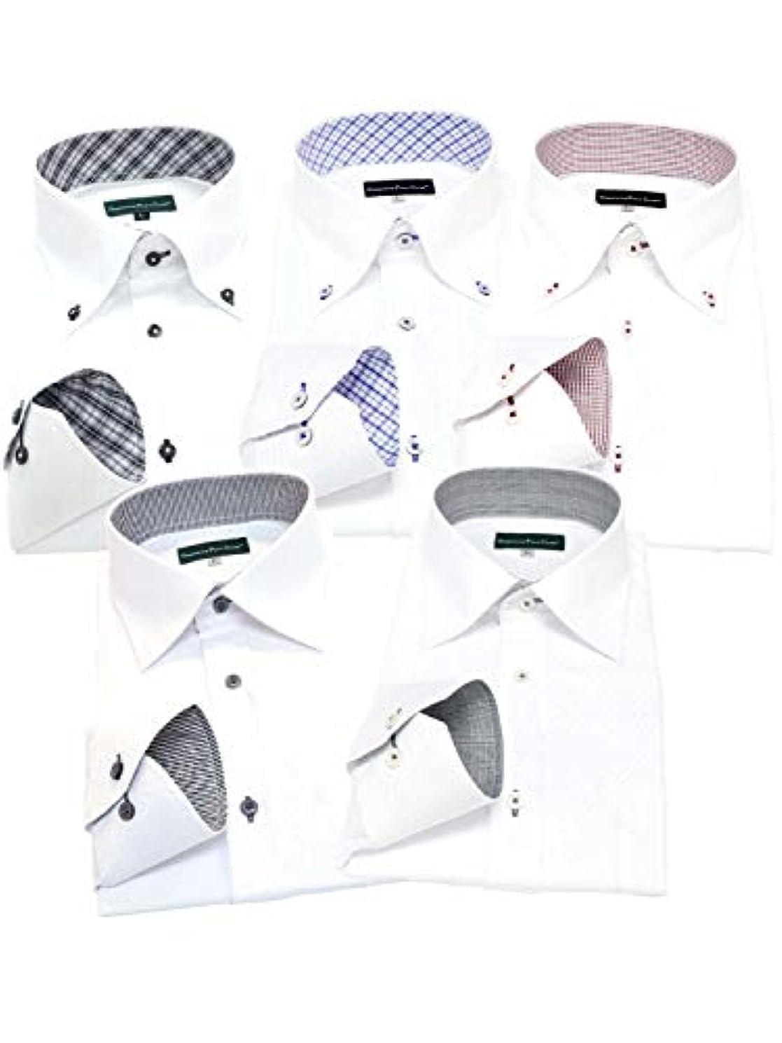 不名誉ブラウスマッシュGREENWICH POLO CLUB(グリニッジポロクラブ) 長袖ワイシャツ 5枚セット メンズ pb 333-L