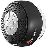 TaoTronics お風呂専用 スピーカー 吸盤式 Bluetooth ワイヤレススピーカー マイク搭載 (防水仕様) A2DP/AVRCP対応 TT-SK03 8.4 x 8.4 x 5.1 cm (ブラック)