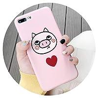 かわいい携帯ケースかわいい豚iPhoneX携帯電話Xsmax7/8 ソフトケースレディース6spピンク, 下豚 土台に6p/6sp