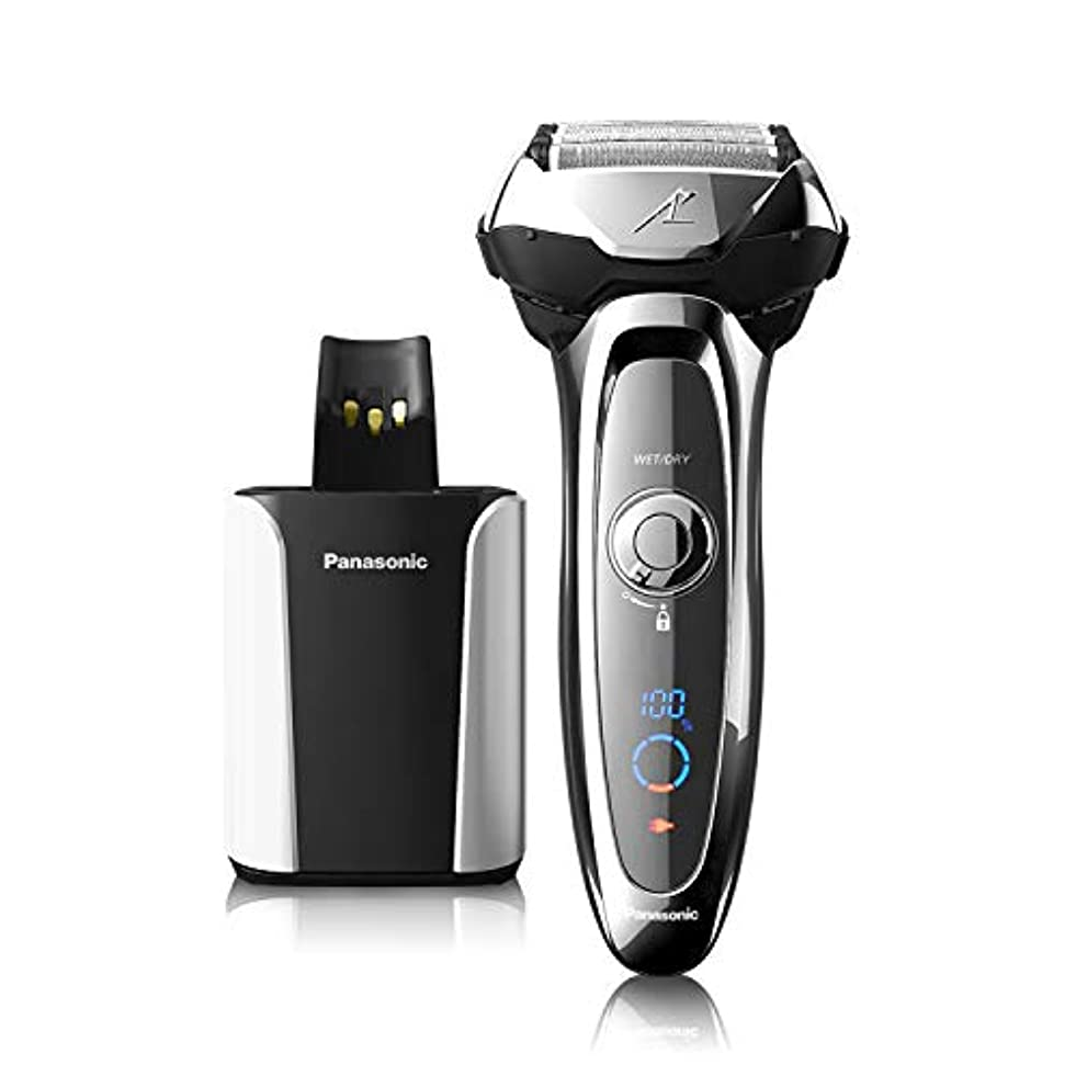 Panasonic ES-LV95-S Arc5 Wet/Dry Shaver with Cleaning and Charging System(US Version, Imported)