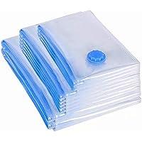 真空圧縮袋 6枚組 (50 * 70cm/60 * 80cm/70 * 100cm)*2 重复使用可能 夏布団など収納 ふとん圧縮袋 押入れ収納
