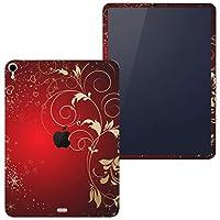 igsticker iPad Pro 12.9 inch インチ 対応 2018年 シール apple アップル アイパッド 専用 A1876 A1895 A1983 A2014 全面スキンシール フル タブレットケース ステッカー 保護シール 005767 ラグジュアリー 赤 レッド ハート
