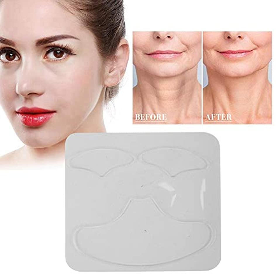 シリコンリンクルパッド、3個再利用可能なアンチリンクルチェストパッドスキンケアを排除し、引き締まった肌を防止
