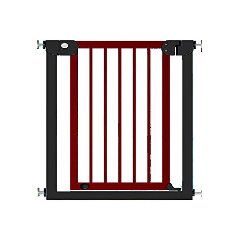 HUO 子供の安全の門木製の階段ガードレールペットの隔離フェンス76-153cm 省スペース (色 : Red, サイズ さいず : 132-139cm)