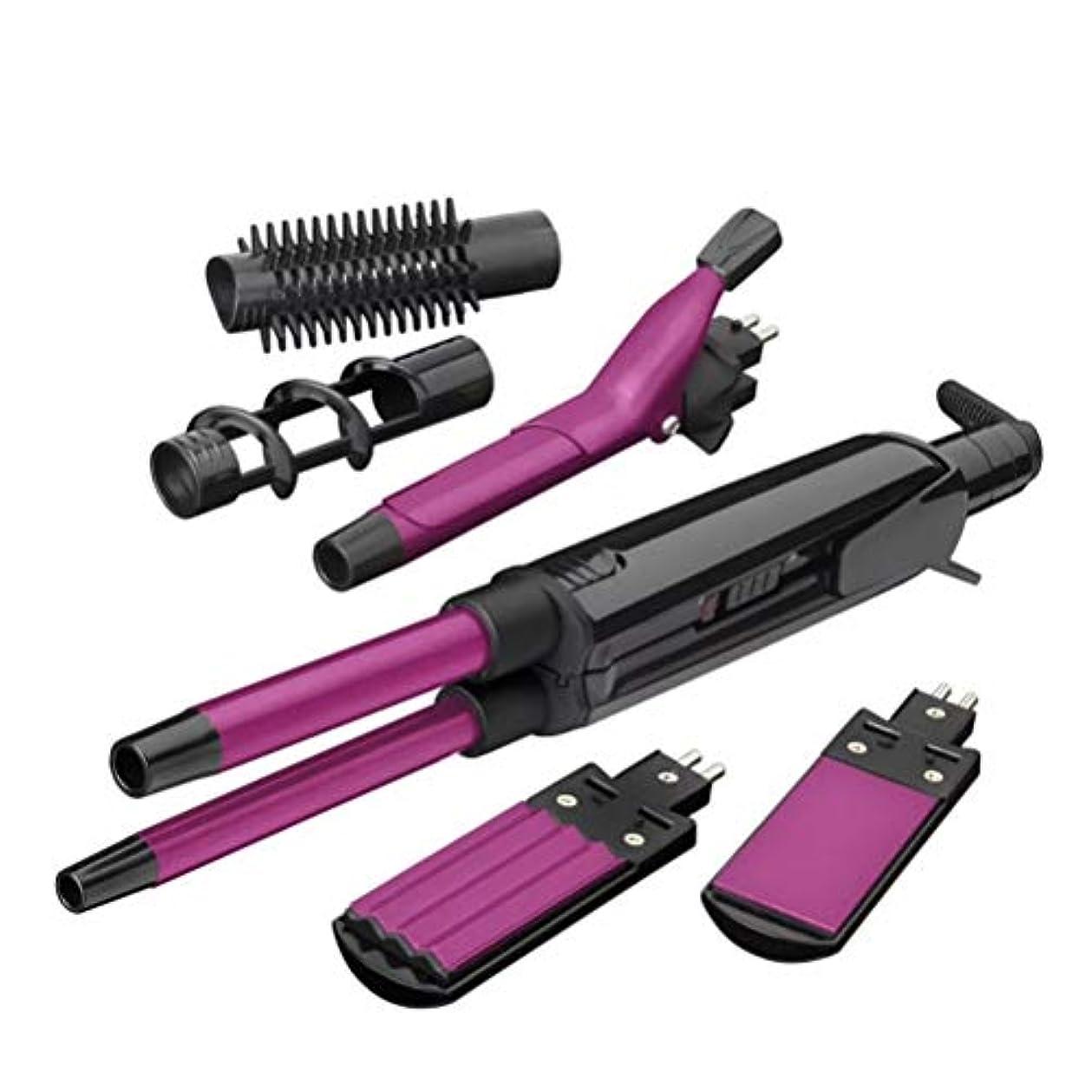 複製大陸徐々に多機能ヘアストレイテナー電動スプリントヘアカーラーふわふわクリップヘアプレート多機能ヘアピンロール(カラーパープル)