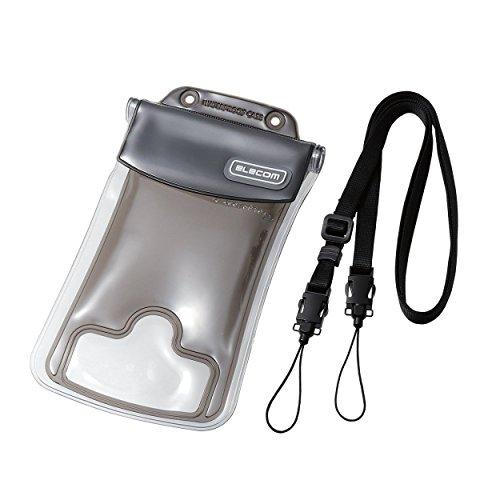 エレコム 防水ケース IP68規格 Lサイズ ブラック P-02WPS2BK