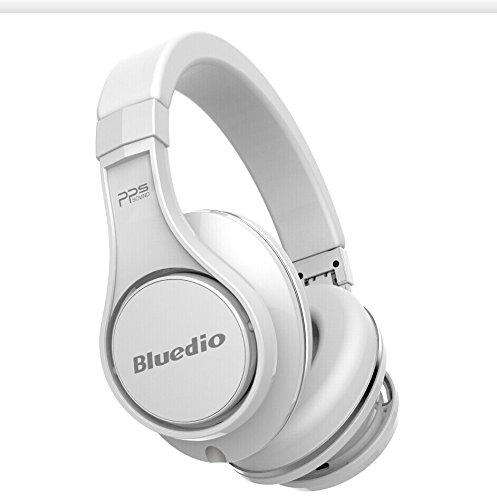 Bluedio U(UFO) High-end Bluetooth ヘッドホン 八つのドライバー 3Dステレオサウンド ヘッドセット 折り畳み式 (ホワイト)