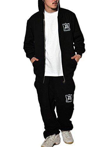 DOP (ディーオーピー)スウェット セットアップ 無地 ブラックS 部屋着 ルームウェア B系 ストリート系 ファッション amdpst077