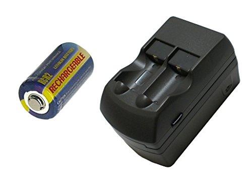 【充電式】[繰り返し] CR-2/CR2 互換 リチウム 充電池 3V + 充電器 セット【ロワジャパンPSEマーク付】