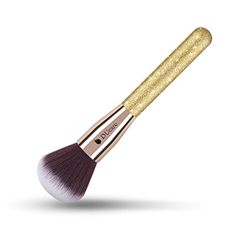争うよりブランクDUcare ドゥケア 化粧筆 フェイスブラシ パウダー&チークブラシ (1本, ゴールデン) 同じシリーズでファンデーションブラシ、フィニッシングブラシあり