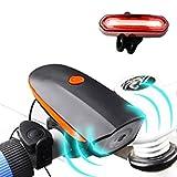 自転車ライト テールライトセットSounor 夜行 高輝度USB充電式? サイクLEDヘッドライト アウトドア IPX6防水 防災