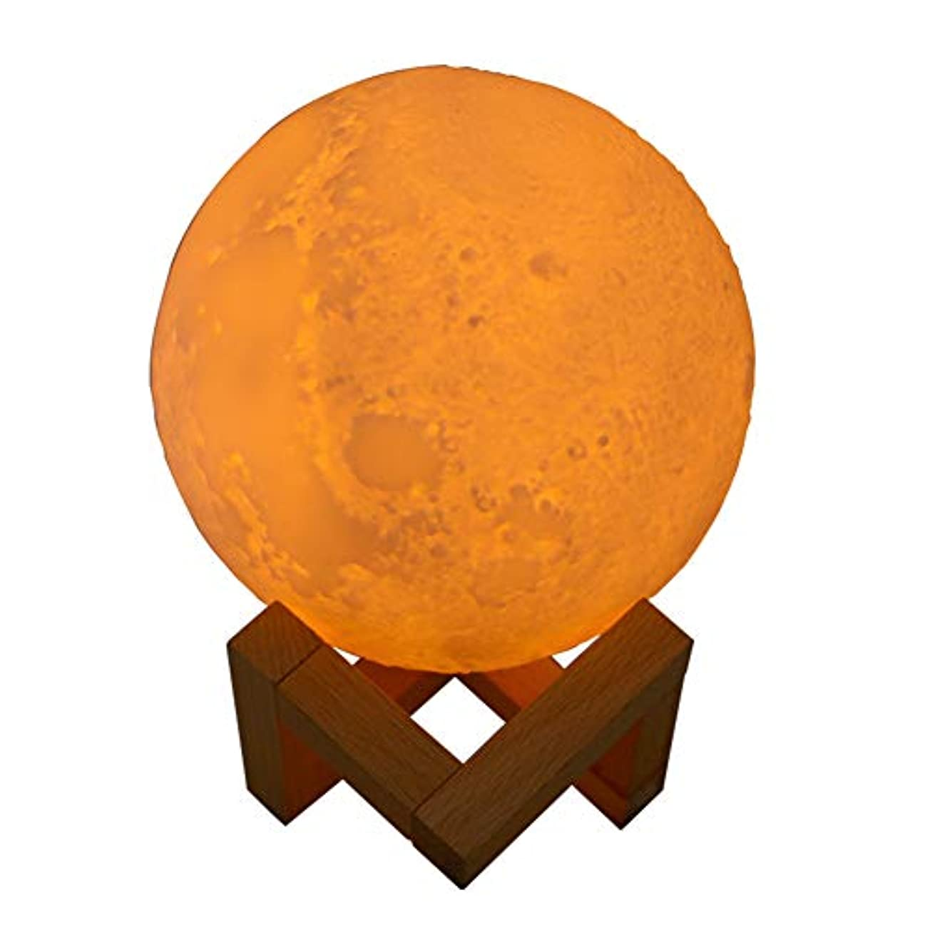 チキン酸簡略化するJIUBAJU 880 ml New USB Mini Humidifier,Innovative Moon Shaped Night Light Mute Essential Oil Diffuser 3D Moon...