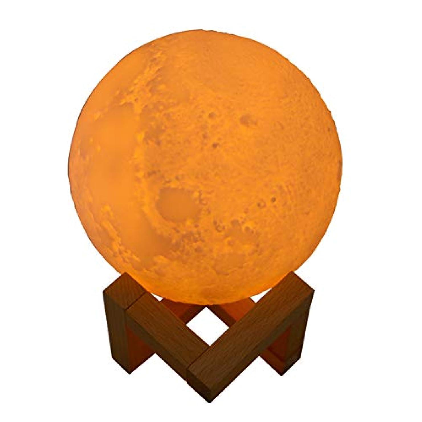 入力特権弁護JIUBAJU 880 ml New USB Mini Humidifier,Innovative Moon Shaped Night Light Mute Essential Oil Diffuser 3D Moon...