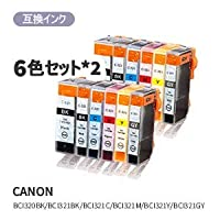 canon キヤノン BCI-320 321 6MP 汎用インク 純正 汎用 BCI-320/321/6MP 6色セット×24580682445253