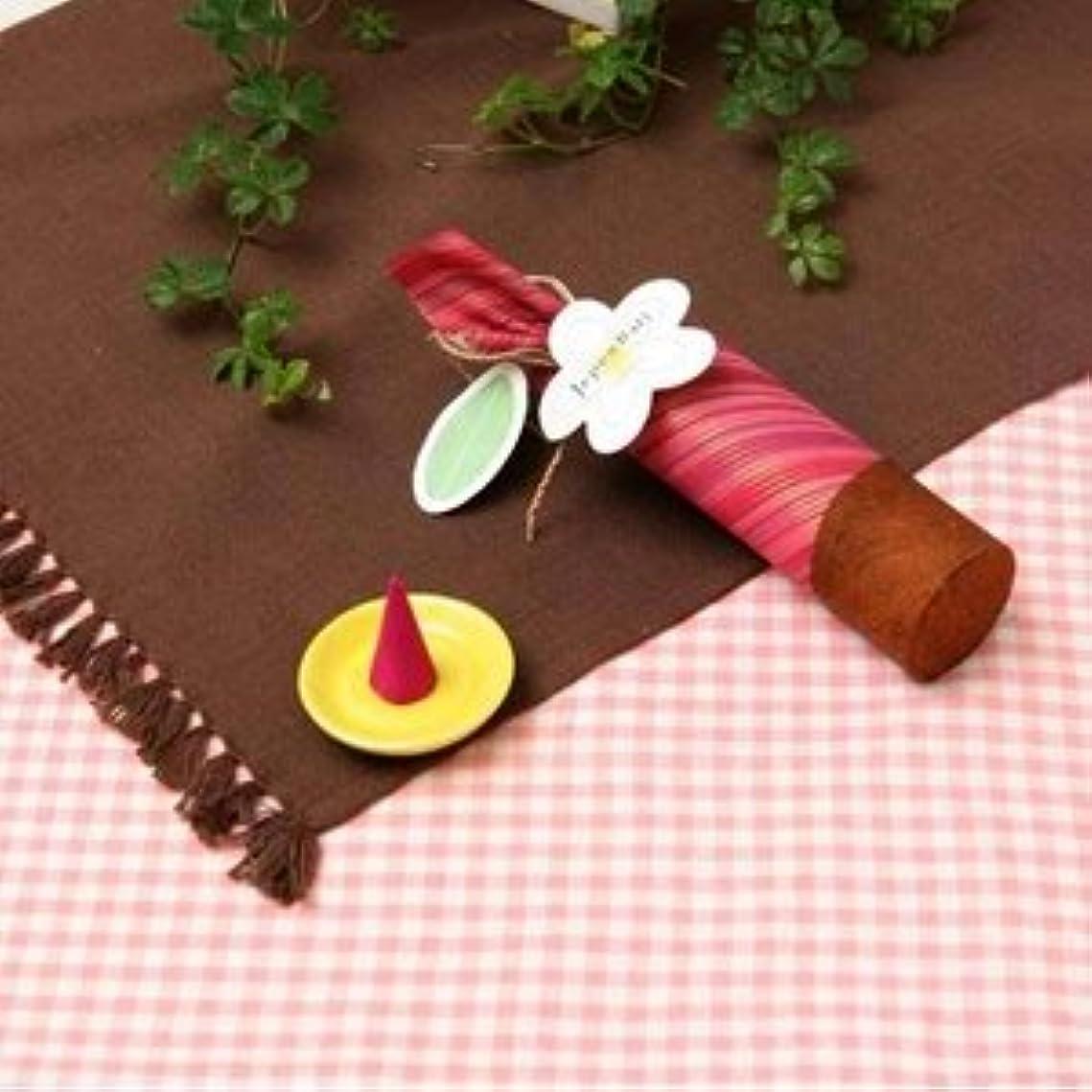 有利パーツ布お香/インセンス 【桜の香り コーンタイプ10個入り】 バリ島製 「Jupen Bari ジュプンバリ」