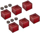 山本音響工芸 コクタン製ピンと桜材ウッドブロックのポイント支持型スピーカーベース(6個1組) PB-11A-6PB-11A-6