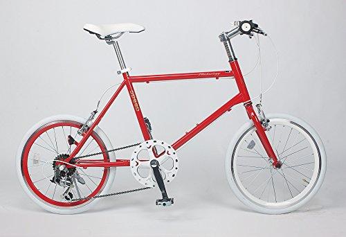 21Technology ミニベロ 20インチ クロスバイク CL20 シマノ6段変速 (レッド)