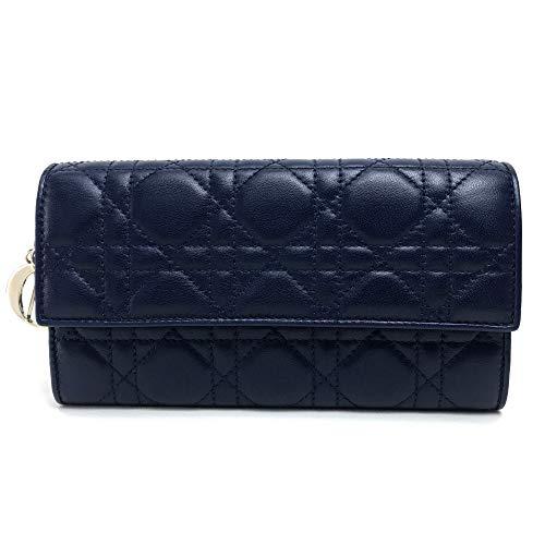(クリスチャンディオール)Christian Dior 2つ折り長財布 レディディオール 長財布(小銭入れあり) レザー/ユニセックス 未使用 中古
