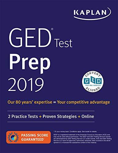 Download GED Test Prep 2019: 2 Practice Tests + Proven Strategies (Kaplan Test Prep) 1506239420