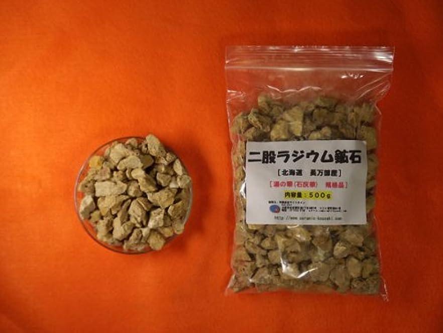 左形状石灰岩二股ラジウム鉱石 湯の華 [北海道 長万部産]500g