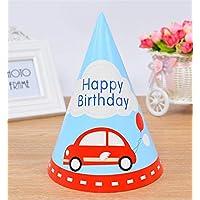 HuaQingPiJu-JP かわいい子供のアダルトパーティークリエイティブドレスアップ帽子シャープコーナー誕生日パーティーハット(車)
