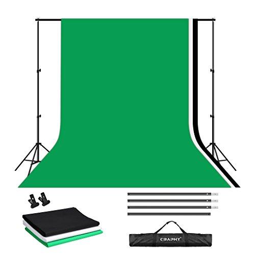 CRAPHY 写真ビデオスタジオ10 x 6.5ft サポートシステム