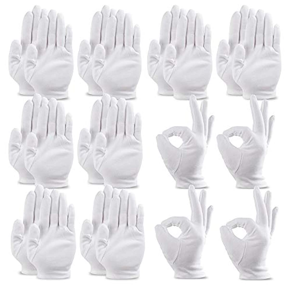 活気づけるミントところで手袋 綿手袋 インナーコットン手袋 ガーデニング用手袋 20枚入り