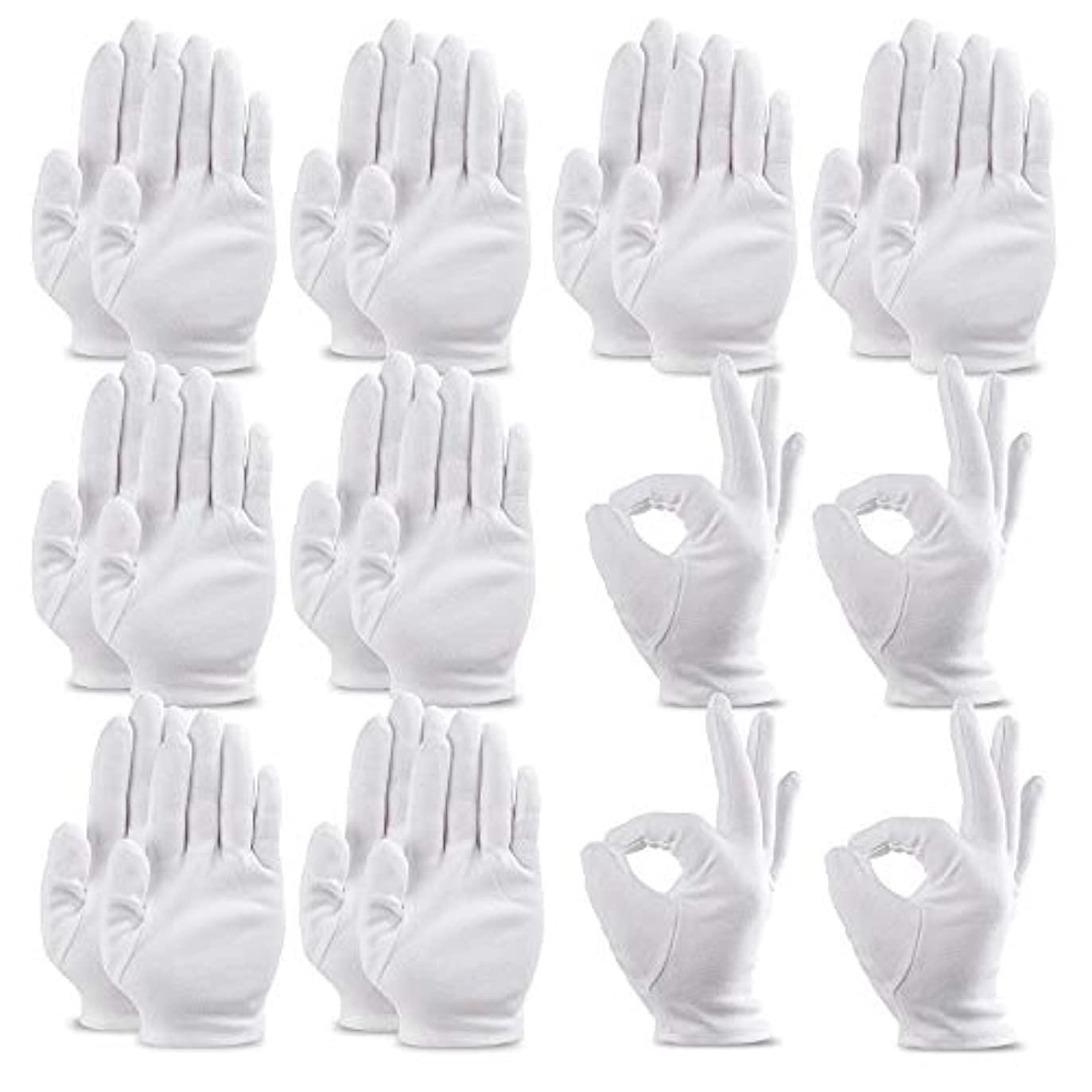 ガレージ示す添加剤20枚入手袋 綿手袋 乾燥肌用 湿疹用 保湿用 コットン手袋 インナーコットン 手荒れ イズ