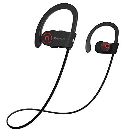 AKASO A1 Bluetooth イヤホン ヘッドホン ワイヤレススポッツイヤホン マイク内蔵 超軽量 高音質 防汗防滴 防水 ヘッドセット耳掛け式 ランニング用スポーツイヤホン iPhone Sony Android スマートフォンなど対応 ノイズ低減の仕組み 日本語説明書付き