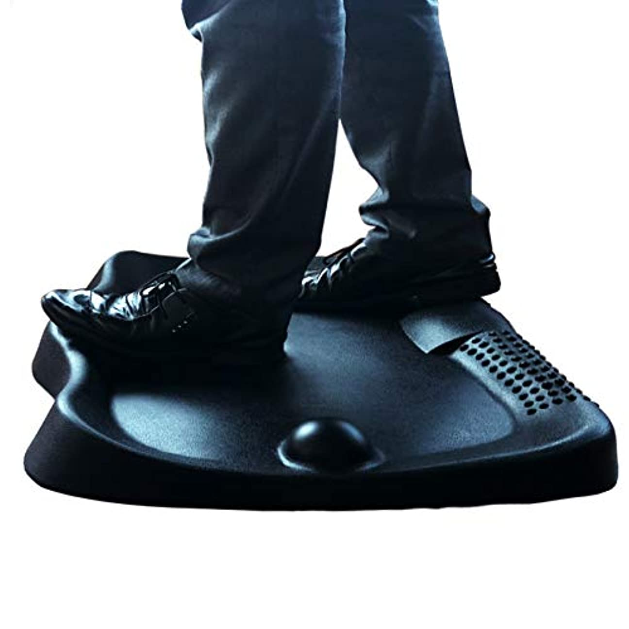 扇動するマリンに同意するArt3d スタンディングデスク 疲労防止マット フラットコンフォートマット フットマッサージ付き スタンディングワークステーション用 26.7 x 23インチ ブラック