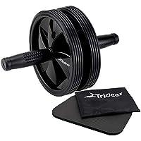 Trideer 腹筋ローラー マット付き アブローラー 300KG耐重 超静音 ダブルホイールアブホイール 組立取付簡単 厚化スチールパイプ シックスパックを鍛える腹筋器具