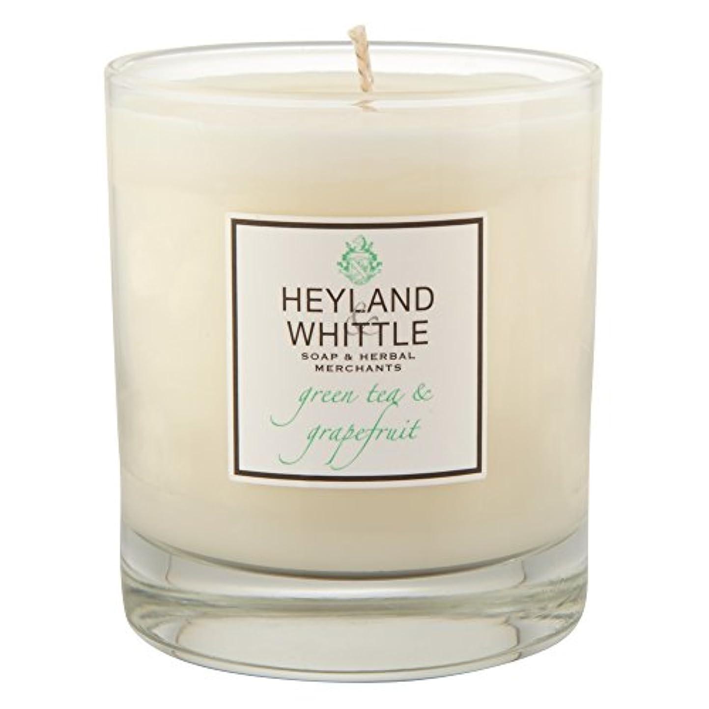 団結する時間知っているに立ち寄るHeyland&削る緑茶とグレープフルーツキャンドル (Heyland & Whittle) - Heyland & Whittle Green Tea and Grapefruit Candle [並行輸入品]