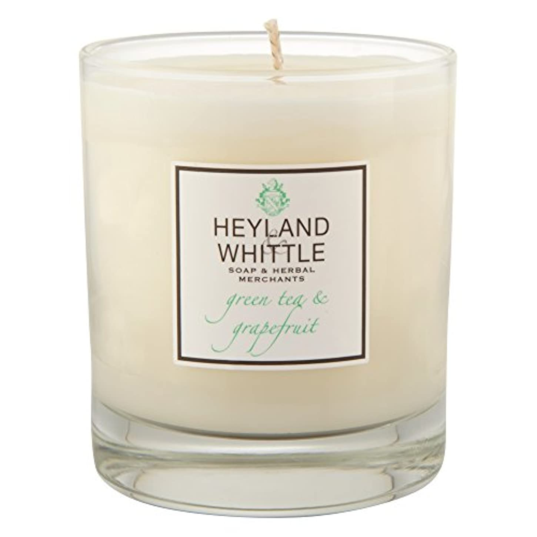Heyland&削る緑茶とグレープフルーツキャンドル (Heyland & Whittle) - Heyland & Whittle Green Tea and Grapefruit Candle [並行輸入品]