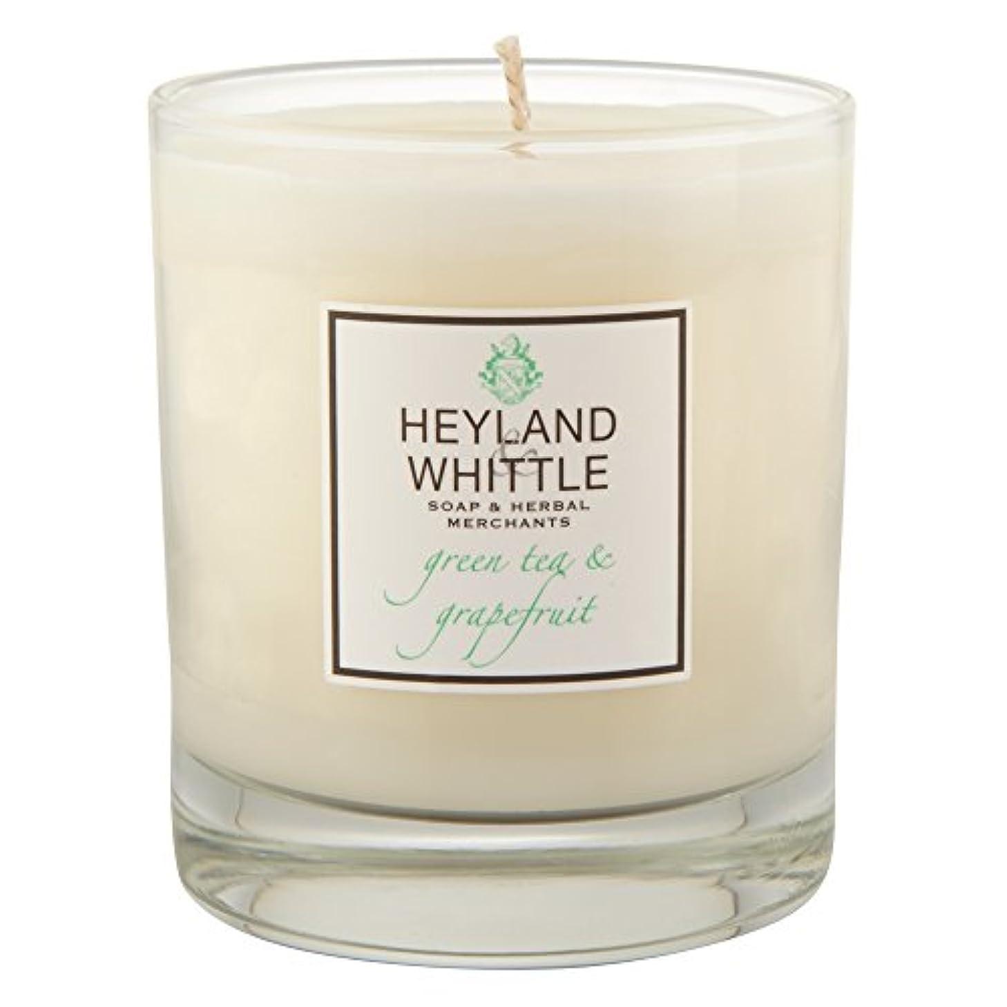 確執隣接するバドミントンHeyland & Whittle Green Tea and Grapefruit Candle (Pack of 6) - Heyland&削る緑茶とグレープフルーツキャンドル (Heyland & Whittle)...