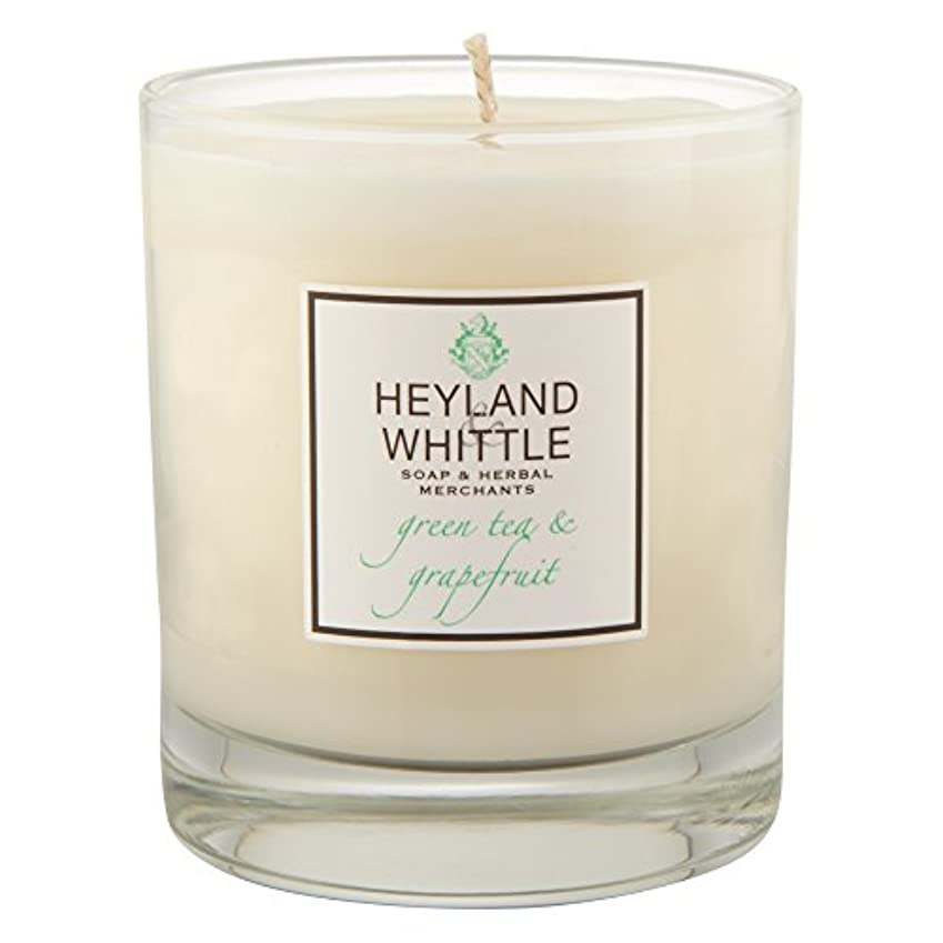 のり使役幽霊Heyland & Whittle Green Tea and Grapefruit Candle (Pack of 6) - Heyland&削る緑茶とグレープフルーツキャンドル (Heyland & Whittle)...