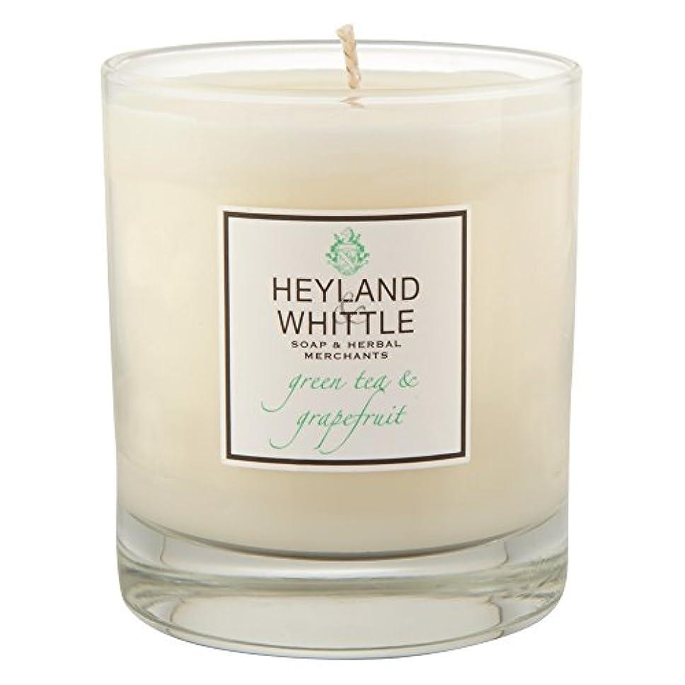 もっと少なく早めるぬるいHeyland&削る緑茶とグレープフルーツキャンドル (Heyland & Whittle) - Heyland & Whittle Green Tea and Grapefruit Candle [並行輸入品]