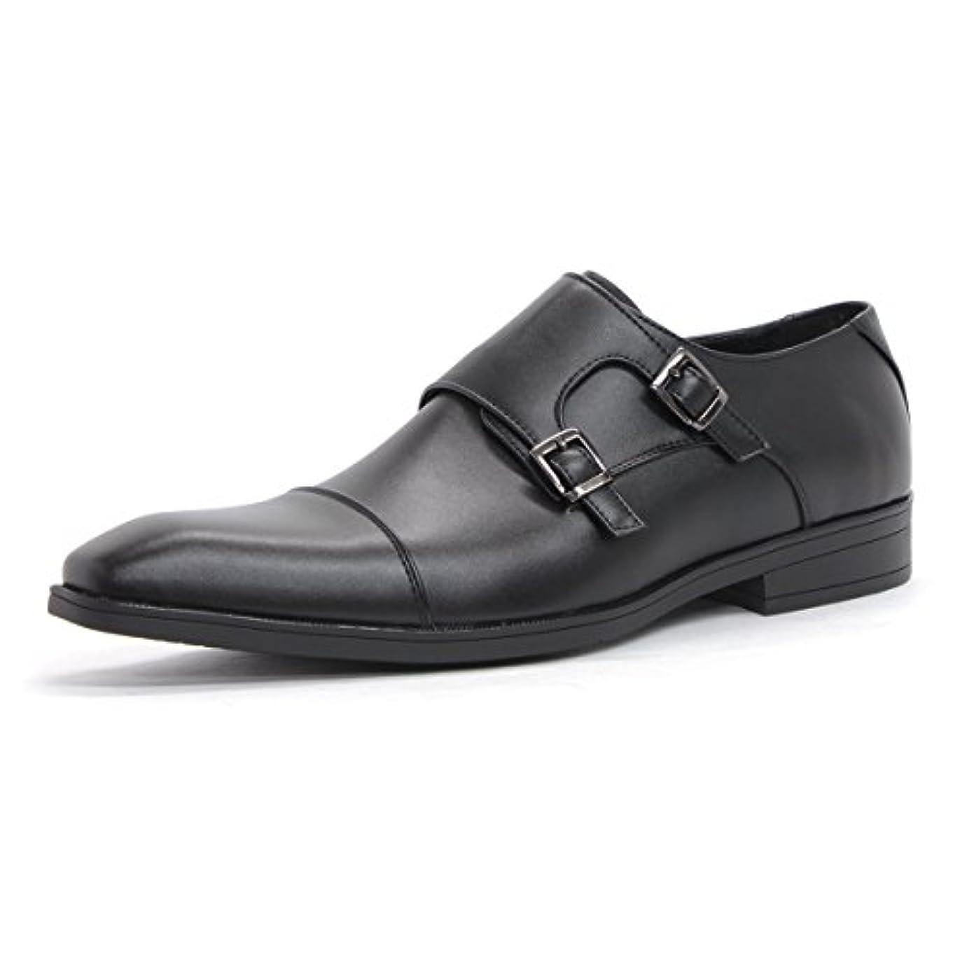 いつでも池アルバム【AAA+ サンエープラス】2709 ビジネスシューズ 靴 紳士靴 メンズ 冠婚葬祭 結婚式 フォーマル 大きいサイズ PUレザー ダブルモンク