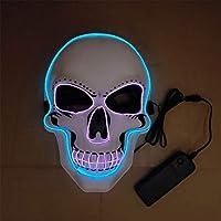 ColorfulLaVie Ledグローマスクホラースケルトンマスクハロウィーンルミナスマスク仮装コスプレマスク