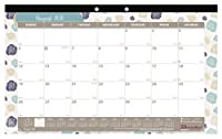 Brownline 2018-2019 Colorful Academic Monthly Desk Pad with Begonia Design 17.75 x 10.875 inches (CA195110-19) [並行輸入品]