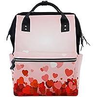 ママバッグ マザーズバッグ リュックサック ハンドバッグ 旅行用 バレンタインデー 心柄 ファション