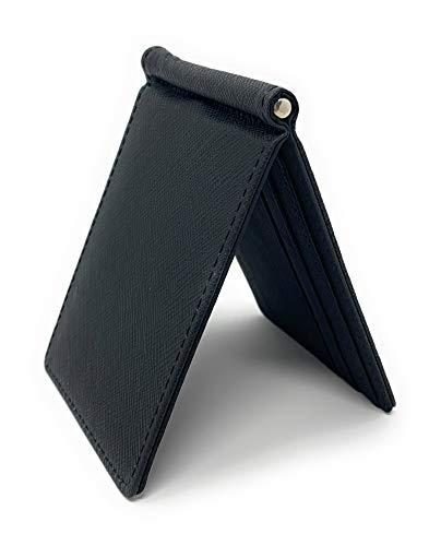 8da0889900c8 Diomarcia(ディオマルキア) マネークリップ カードケース 薄 財布 札入れ 二つ折り レザー (ブラック)