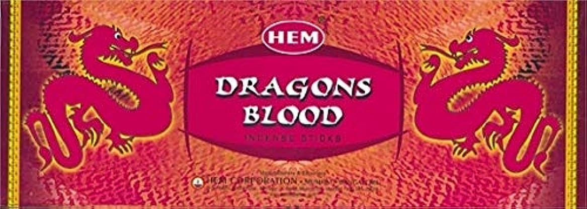 うま戸棚開始HEM ドラゴンブラッド香(DRAGON BLOOD) スティックタイプ 1箱(1箱6筒×20本=120本入り) (郵便(メール)配送240円!7筒まで同梱可!)