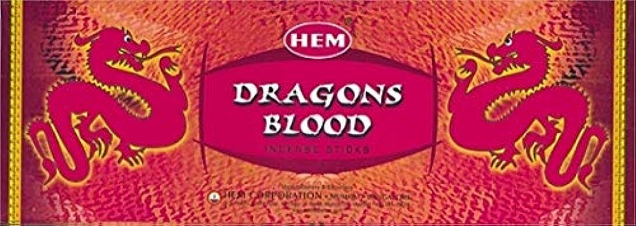 即席尽きる意識的HEM ドラゴンブラッド香(DRAGON BLOOD) スティックタイプ 1箱(1箱6筒×20本=120本入り) (郵便(メール)配送240円!7筒まで同梱可!)