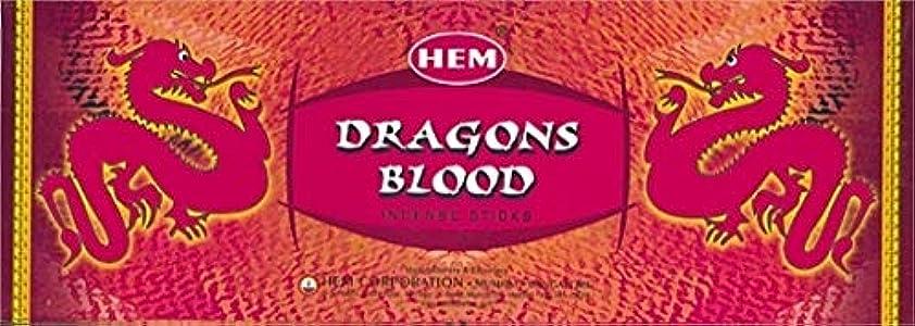 硬化する横扱いやすいHEM ドラゴンブラッド香(DRAGON BLOOD) スティックタイプ 1箱(1箱6筒×20本=120本入り) (郵便(メール)配送240円!7筒まで同梱可!)