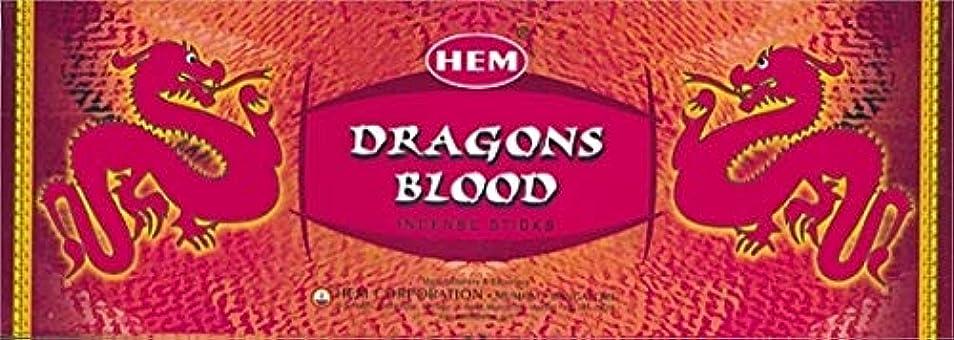 本物の電極フェンスHEM ドラゴンブラッド香(DRAGON BLOOD) スティックタイプ 1箱(1箱6筒×20本=120本入り) (郵便(メール)配送240円!7筒まで同梱可!)