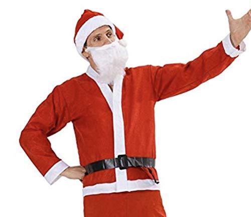 ROZZERMAN サンタクロース コスチューム 厚手 大人用 サンタ コスプレ 5点セット 7点セット 選べる 子 供 が大喜び間違いなし (標準5セット)