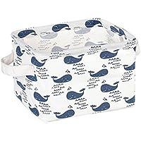 夢_ホーム3パックCuboid Portable浴室洗面用品防水レッドフラミンゴストレージバスケット、濡れタオル、、7.9