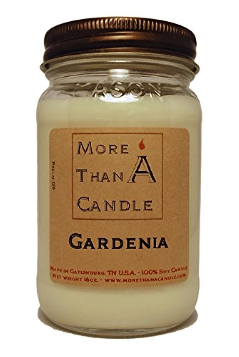 More Than A Candle GDA16M 16 oz Mason Jar Soy Candle, Gardenia