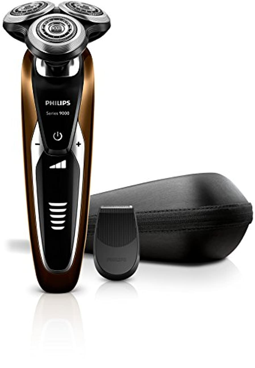 メール最初に歌うフィリップス 9000シリーズ メンズ 電気シェーバー 72枚刃 回転式 お風呂剃り & 丸洗い可 トリマー付 S9511/12